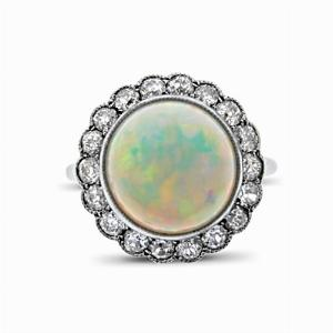 Edwardian Opal & Old Cut Cluster